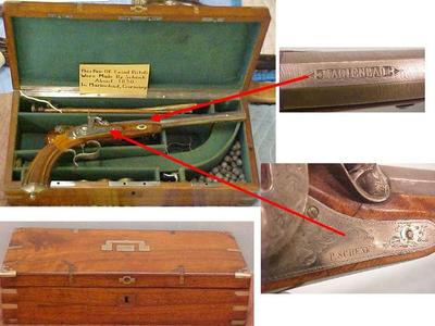 Pair Of Cased Dueling Pistols