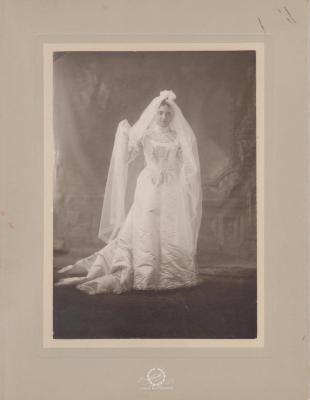 Photograph, Amanda Voigt Perkins In Wedding Dress