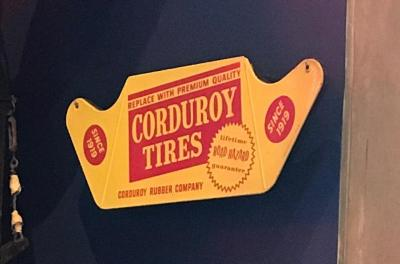 Sign, 'corduroy Tire'