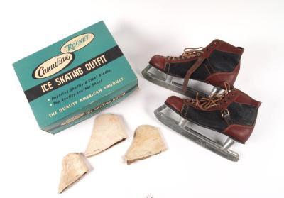 Man's Hockey Skates, Accessories And Original Box