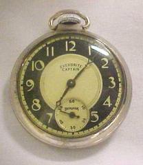 Man's Pocket Watch, Everbrite Captain