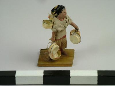 Figurine, Basket Seller