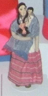 Mexican Woman Doll Carrying Child