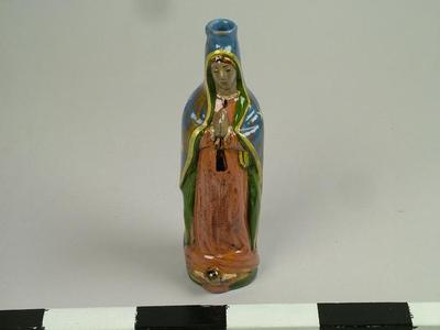 Figural Bottle, Our Lady Of Guadalupe