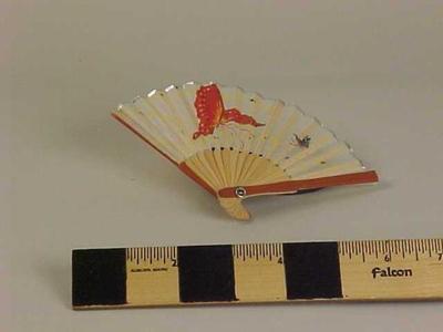 Miniature Fan With Butterflies