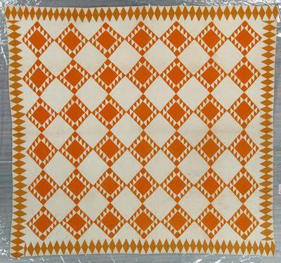 Pieced Quilt, Sawtooth Variation
