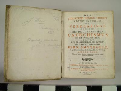Book, Dutch Language Catechism, 1742