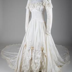 Wedding Dress and Hoopskirt