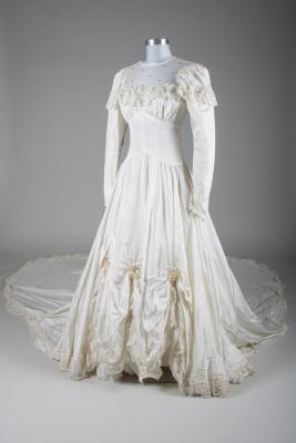 Wedding Dress and Hoopskirt