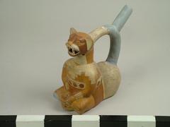Pot, Moche Feline