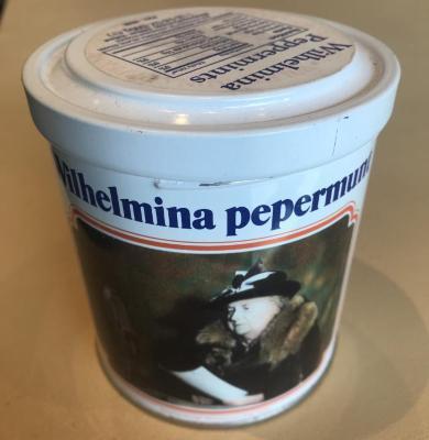Wilhelmina Peppermints Container, 1 Lb. 6 Oz.