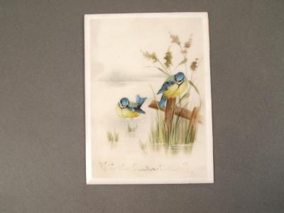 Painting, On Resin, Warblers in a Marsh