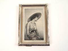 Half-tone Photoengraving, A Woman Wearing A Hat