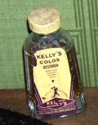 Bottle, Kelly's Color Restorer