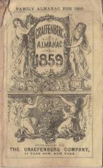 Almanac.  Graefenburg Almanac 1859