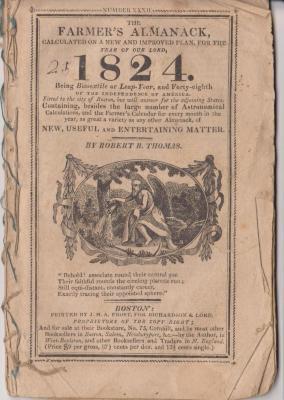 Almanac. 1824 Farmer's Almanack