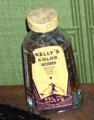 Bottle, Kelly's Color Restorer