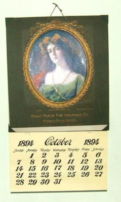 Advertisement, Calendar, 1900