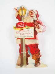 Sign, Coca-cola Santa Claus Easel Window Display