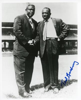 Photograph, Autographed, Ted Rasberry And Jackie Robinson