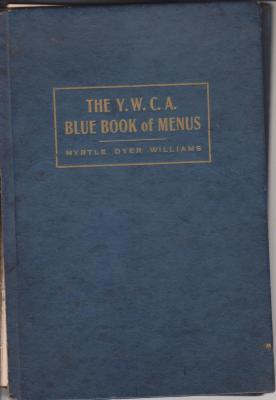 Book, 'the Y.W.C.A. Blue Book Of Menus'
