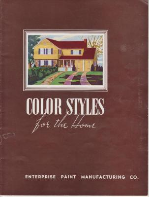 Booklet, 'color Styles For The Home,' Enterprise Paint Mfg. Co.