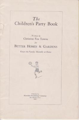 Booklet, Party, 'the Children's Party Book'