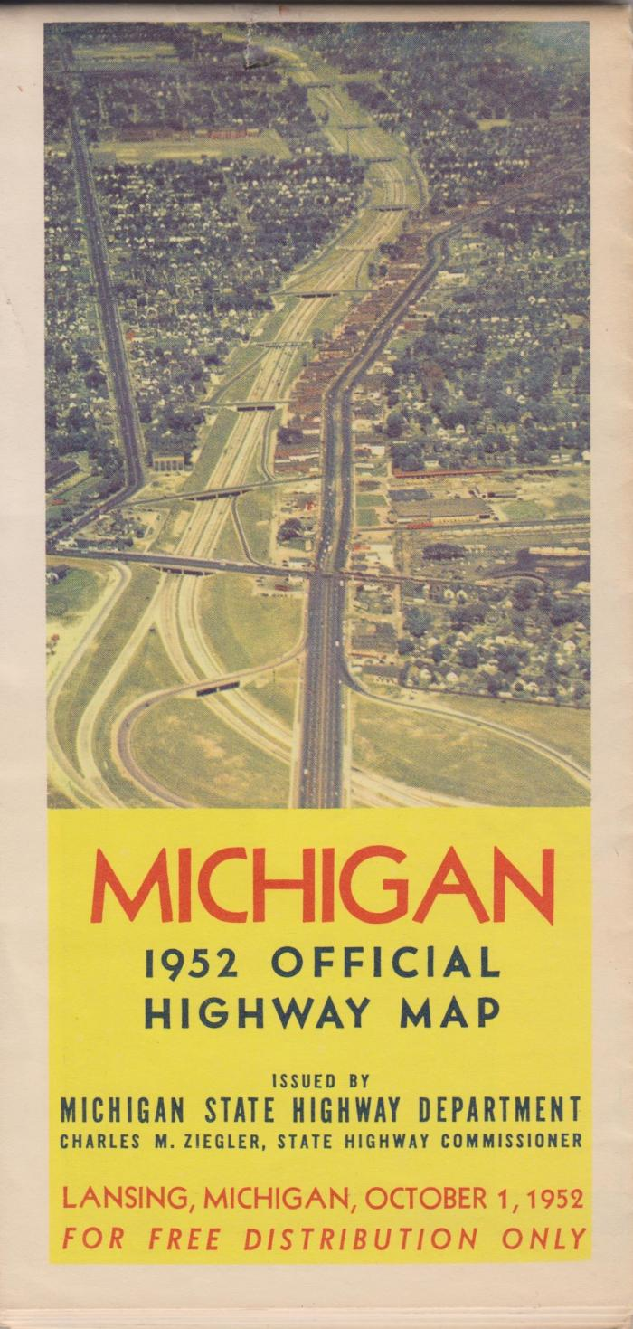 Michigan 1952 Official Highway Map