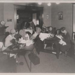 Photograph, women sewing