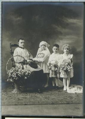 Reproduction Photograph, Anthony Arsulowicz  And Others, 1st Communion, C. 1931, John Arsulowicz, Jr. Archival Collection #135