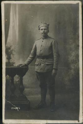 Reproduction Photograph, Josef Daynowicz In Hallers Army Uniform, 1918, John Arsulowicz, Jr. Archival Collection #135