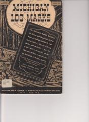 Book, 'michigan Log Marks'