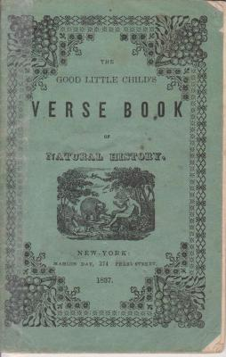 Book, 'the Good Little Child's Verse Book Of Natural History.'