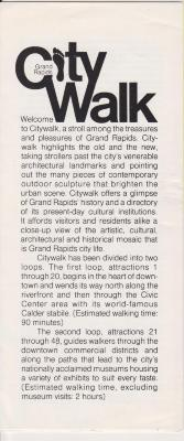 Brochure, Grand Rapids City Walk