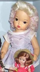 Baby Doll In Blue Dress And Snood