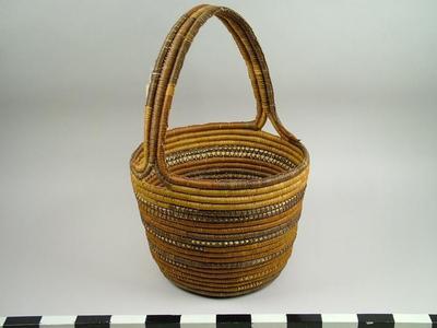 Basket, Woven Pandanus Fiber