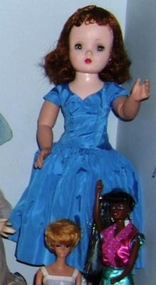 Fashion Doll In Blue Dress