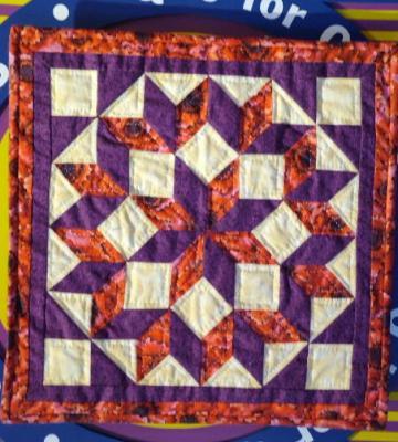 Quilt Block, Carpenter's Wheel