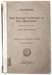 Book, Proceeding of the First National Conference on Race Betterment