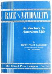 Book, Race and Nationality as Factors in American Life
