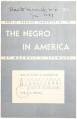 Pamphlet, The Negro in America