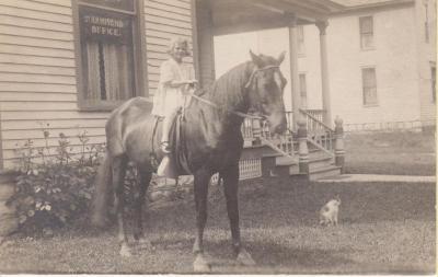 Photograph, Alice Pauline Hammond on a Horse