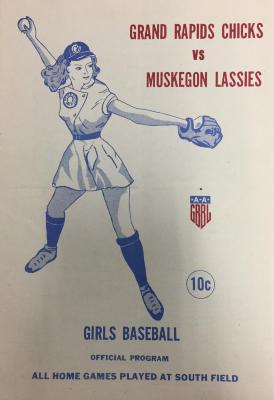 Program, 1948, Grand Rapids Chicks Vs Muskegon Lassies, Girls Baseball,  Official Program, All-american Girls Baseball League Archival Collection #66