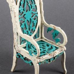 Miniature, Pierced-Back Italianate Style Chair