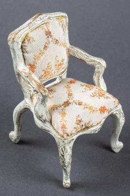 Miniature, Louis XV-Style Fauteuil Tree Ornament Chair