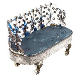 Miniature, Cartouche-Shaped Sofa