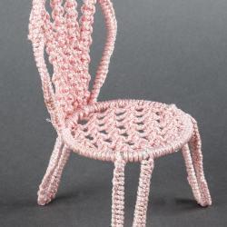 Miniature, Crochet Chair