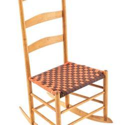 Miniature, Shaker-Style Slat-Back Rocker Chair