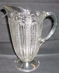 Pitcher, Clear, Beaded Dewdrop Pattern
