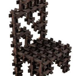 Miniature, Crown Thorn Tramp Art Chair